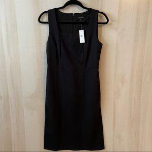 NWT Ann Taylor Black Sheath Dress Size 4